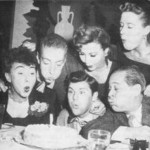 Cast Of Archie Andrews (bottom row): Alice Yourman (Mary Andrews); Bob Hastings (Archie); Art Hohl (Fred Andrews). (top row) Harlan Stone (Jughead); Gloria Mann (Veronica) and Rosemary Rice (Betty).
