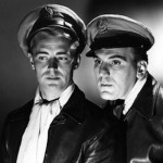 William Bendix (R) with Alan Ladd (Calcutta 1947 Film)
