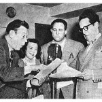 Allen Reed (3rd from Left) with Fred Allen, Minvera Pious & Kenny Delmar