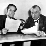Basil Rathbone (L) with Nigel Bruce