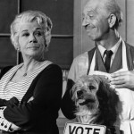 Bea Benaderet with Frank Cady & Higgins The Dog (aka Benji) on Petticoat Junction