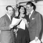 Joan Alexander with Jackson Beck (L) and Bud Collyer (Superman Radio)