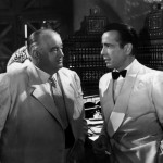 Sydney Greenstreet and Humphrey Bogart in Casablanca 1942