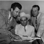 Chester Lauck (Lum) & Norris Goff (Abner) pose with Country Legend Bob Wills