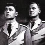 Al Hodge (Right) with Don Hastings in Captain Video