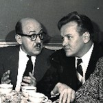 Larry Thor (R) with Charles Calvert (Sgt. Tartaglia) Broadway Is My Beat photo courtesy of Walter Maher