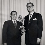 Daws Butler (Left) with Stan Freberg nabbing an award for St. George & The Dragon-net