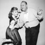 Don Wilson with Shari Lewis (The Jack Benny TV Show 1962)