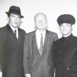 George W. Trendle (Center) with Van Williams and Bruce Lee - Green Hornet TV Show