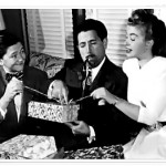 Leroy (Walter Tetley) Uncle Mort (Harold Peary) and Marjorie (Louise Erickson) prepare for Christmas
