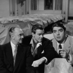 Larry Keating (L) with Gower Champion & Kurt Kaznar (Give A Girl & Break 1953)