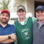 Greg with screenwriter & novelist Derek Haas (with Andy The Caddy)