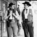 Parley Baer (Chester) and William Conrad (Matt) in publicity shot for Gunsmoke