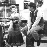 Georgia Ellis (Kitty) with Parley Baer (Chester) Gunsmoke publicity shot
