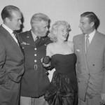 Bob Hope, Marilyn Monroe, Joe DiMaggio (and a very lucky soldier)