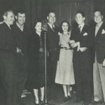 Jack Benny 1937 Cast (L-R) Jack, Andy Devine, Blanche Stewart, Don Wilson, Mary Livingstone, Kenny Baker, Phil Harris