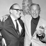 George Burns (R) with Jack Benny