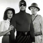 Jeanne Bates with Tom Tyler (C) and Frank Shannon (in 1943 serial The Phantom)