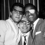 Jeff Chandler (Center) with Tony Curtis & Sammy Davis Jr.