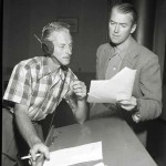 Jimmy Stewart (R) with director Jack Johnstone
