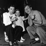 Judy Garland with Daughter Liza Minnelli and Mickey Rooney
