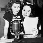 Dorothy Kilgallen (R) with Shirley Temple