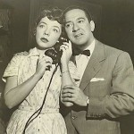 "Larry Haines with Melba Rae in ""Search for Tomorrow."""