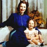 Loretta Young with daughter Judy Lewis