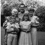 Frank Lovejoy, Joan Banks, Their Children (and some clown!)