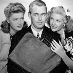 Alan Ladd with Helen Walker (L) and Marie McDonald (R) in Lucky Jordan