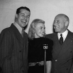 Cecil B. DeMille (R) with Don Ameche & Ginger Rogers 1937