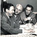 Bill Johnstone (Center) with Wally Maher (L) & Edmond O'Brien (R)