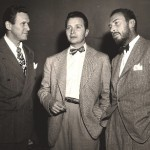 Wally Maher (L) with Henry Morgan and William Spier (R)