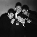 The Maltese Falcon Cast L-R Peter Lorre, Sydney Greenstreet, Mary Astor, Humphrey Bogart