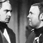 Frederic March (L) & Charles Laughton (R) from Les Miserables