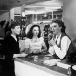 Eve Arden (R) with Joan Crawford (L) and Ann Blyth in Mildred Pierce