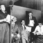 Mystery In The Air - Peter Lorre (Left); Hans Conried (Middle) Harry Morgan (2nd From Right)