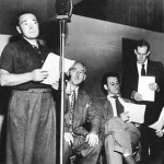 Mystery In The Air - Peter Lorre (Left) Hans Conried (2nd from the Right) Harry Morgan (Far Right)