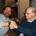 Norman Corwin with Greg 2009