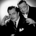Peter Lorre (r) with Vincent Price