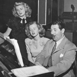 Shirley Mitchell (L) with Louise Erickson & Harold Peary (The Great Gildersleeve)