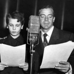 Dana Andrews with Dean Stockwell (radio version of film Deep Waters)