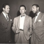 Suspense Producer/Director William Spier (R) with Wally Maher (L) and Henry Morgan