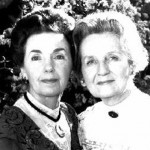 Helen Kleeb (L) with Mary Jackson was The Baldwin Sisters on The Waltons