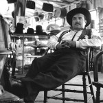 William Conrad as Marshall Dillon (photo by cast member Harry Bartell)