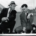Barton Yarborough (L) and Jack Webb in Dragnet