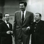 (L to R) Arnold Stang, Fess Parker and Peter Lorre