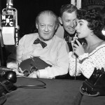 Lionel Barrymore (L) with George Murphy & Elizabeth Taylor