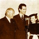 Cecil B. DeMille (L) with Fred MacMurray & Bette Davis