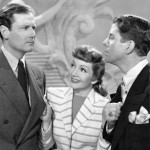 Rudy Vallee (R) with Joel McCrea & Claudette Colbert (The Palm Beach Story 1942)